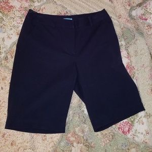 J. McLaughlin navy blue shorts.